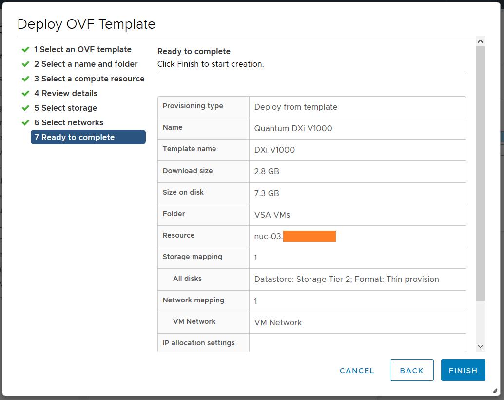 domalab.com Quantum DXi v1000 ovf wizard