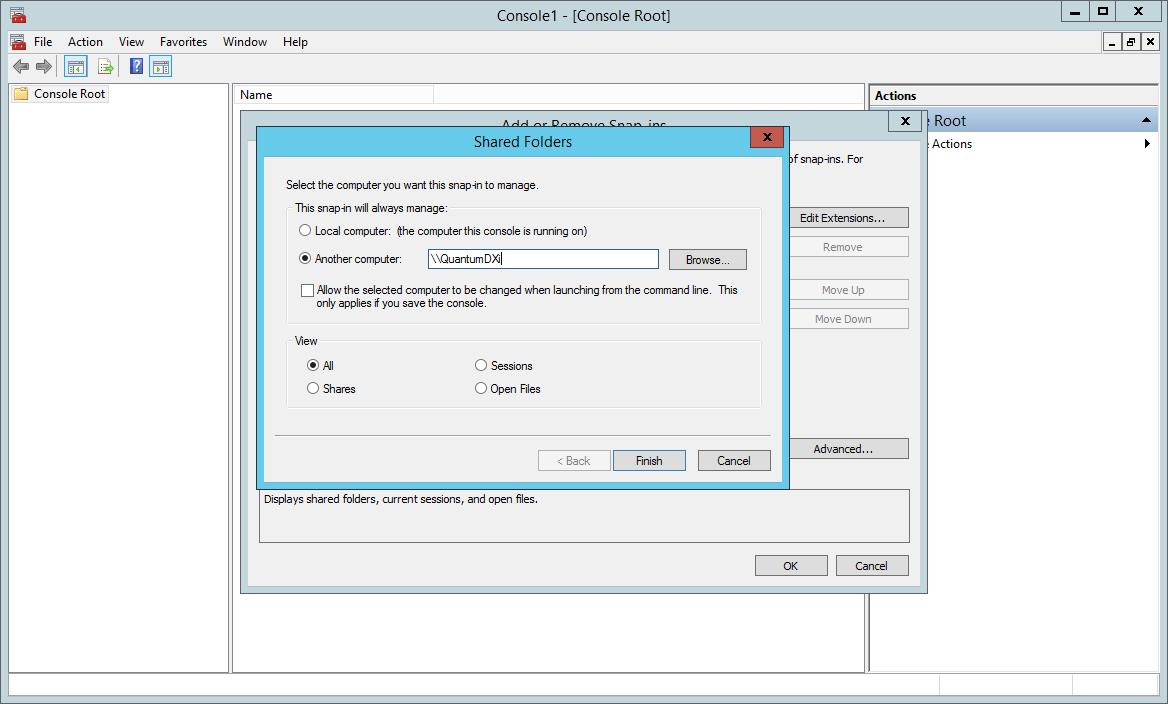 domalab.com Quantum DXi CIFS mmc shred folder snap-in