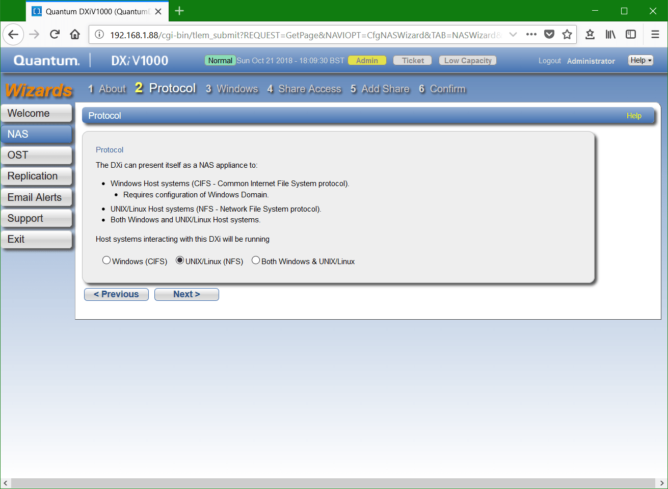 domalab.com Quantum DXi NFS protocol