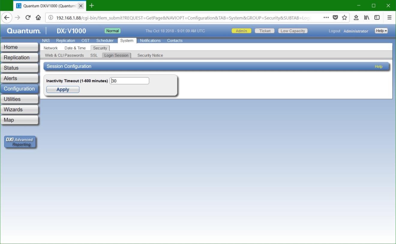 domalab.com Quantum DXi network login session