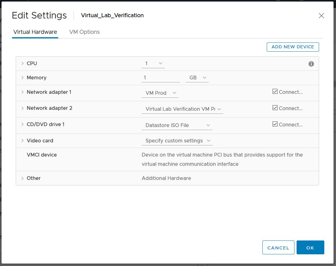 domalab.com Veeam SureBackup job virtual lab vm settings