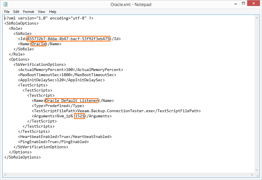 domalab.com Veeam custom SureBackup sbrole xml edit