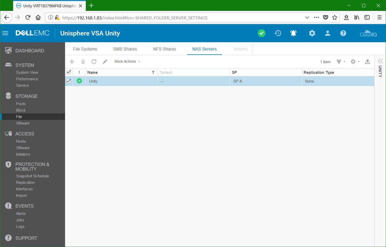 domalab.com Dell EMC Unity NDMP