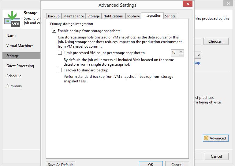 domalab.com HPE StoreVirtual Backup veeam vsphere integration