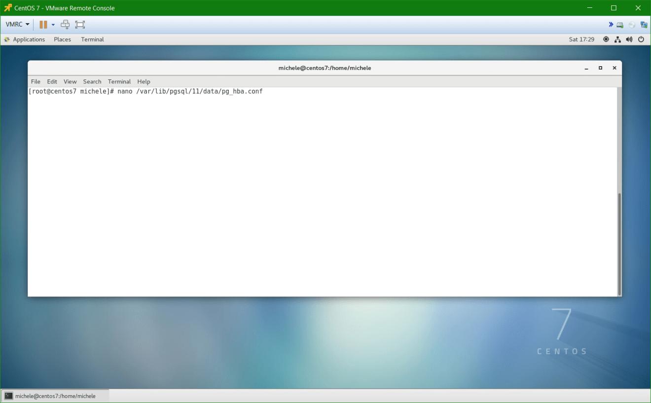 domalab.com install postgreSQL pgAdmin CentOS 7 configuration