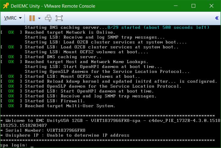 domalab.com Dell EMC Unity VSA VMware Remote Console