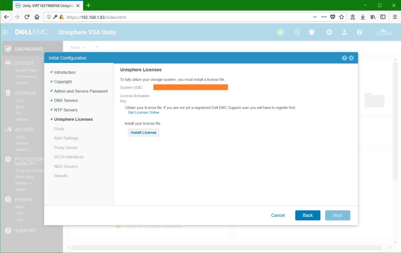 domalab.com Dell EMC Unity VSA unisphere licenses