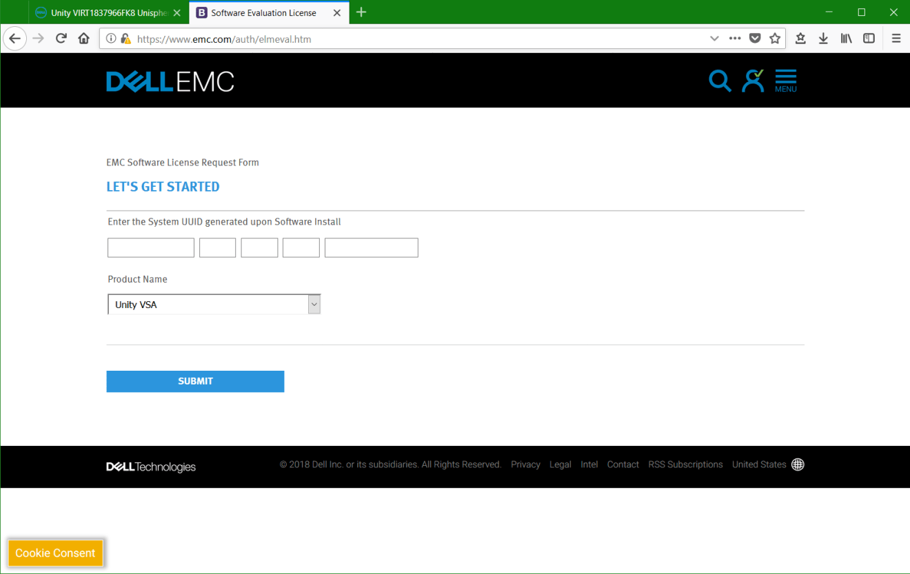 domalab.com Dell EMC Unity VSA UUID