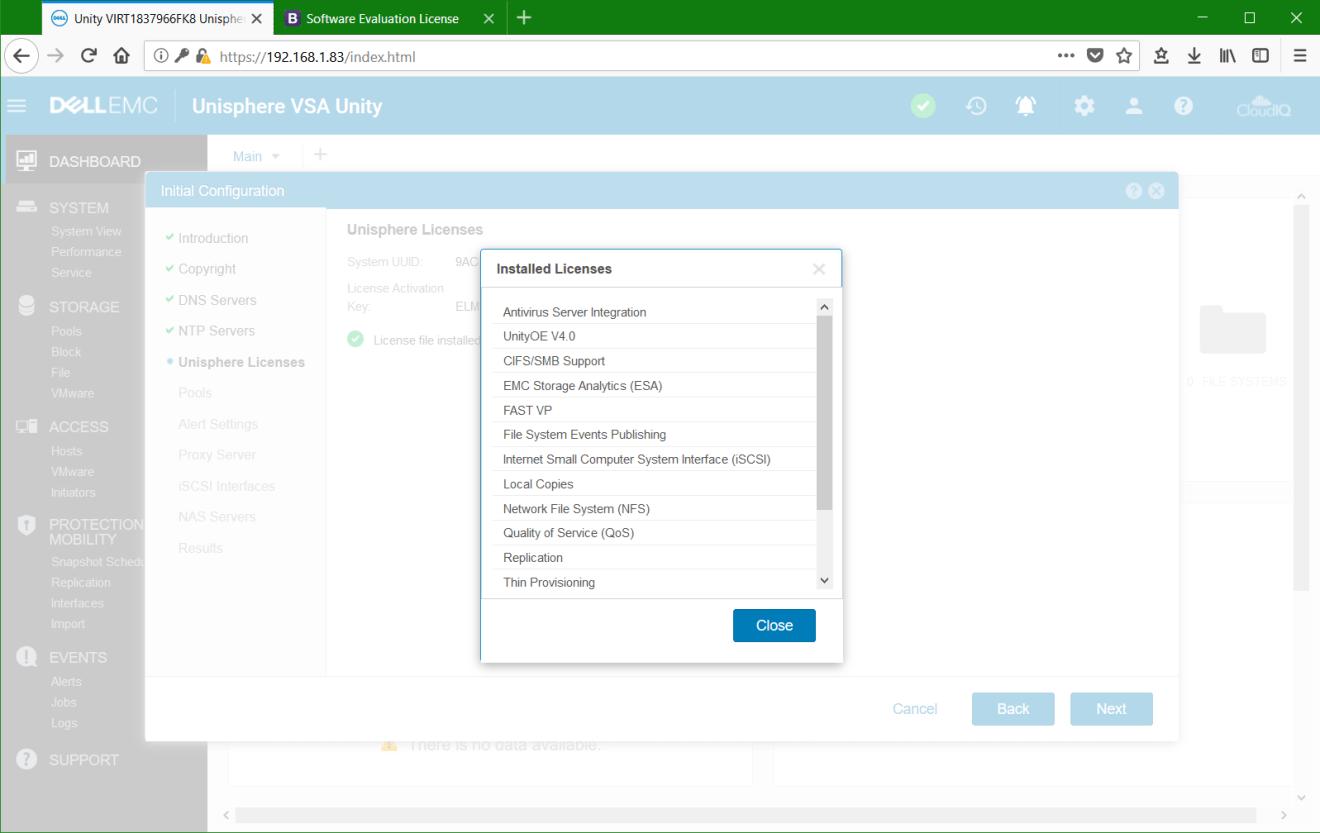 پیکربندی Dell EMC Unity VSA در VMware vSphere - تجهیزات