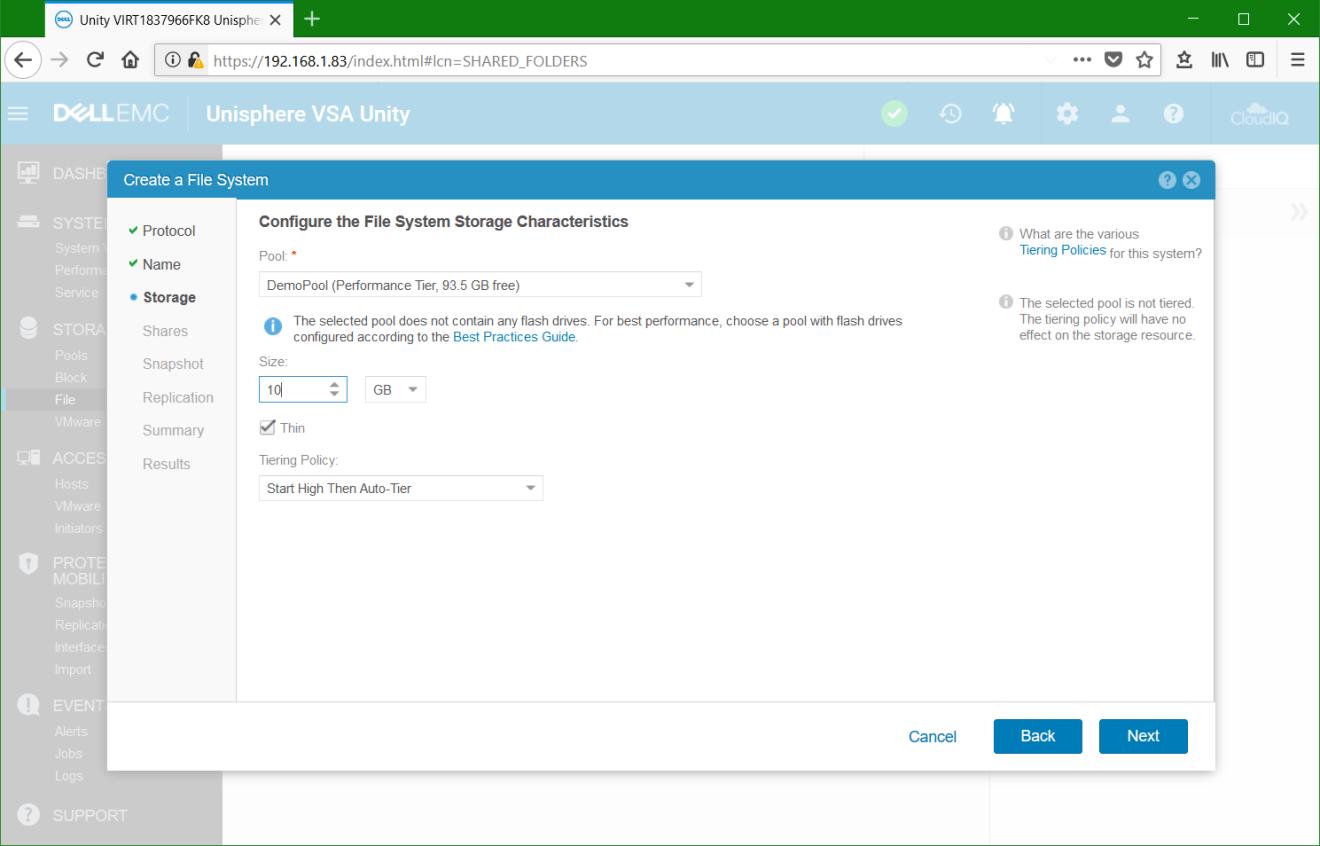 domalab.com Dell EMC Unity File System Storage