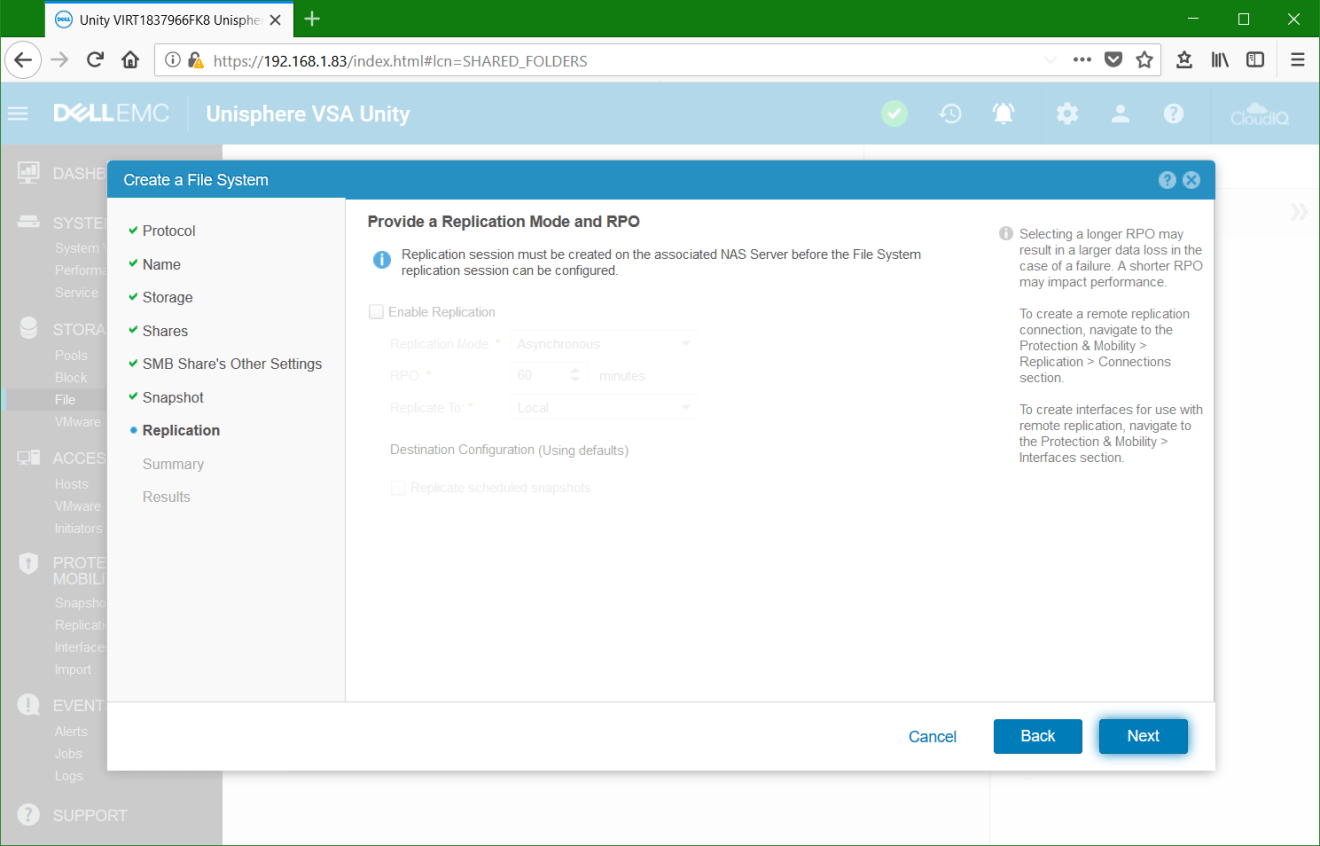 domalab.com Dell EMC Unity File System Replication