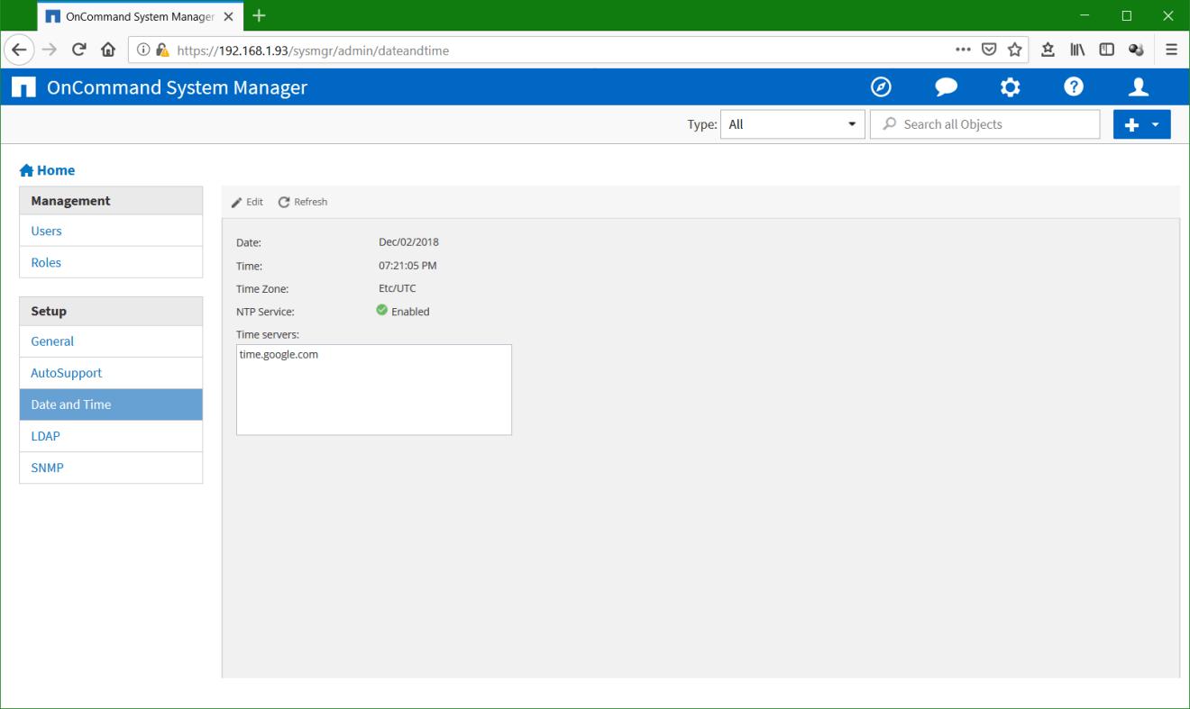 domalab.com Configure NetApp ONTAP NTP