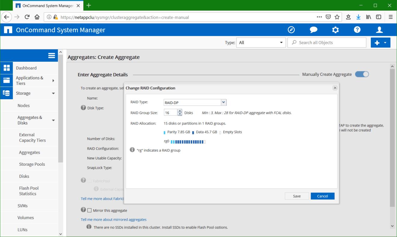 domalab.com Configure NetApp ONTAP aggregate raid configuration