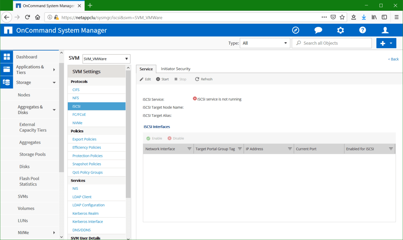 domalab.com Configure NetApp ONTAP iSCSI settings