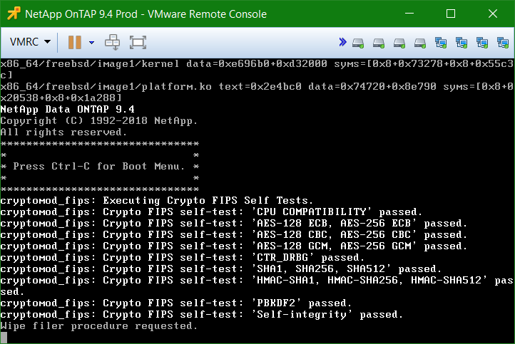 domalab.com Install NetApp ONTAP Sim wipe filer