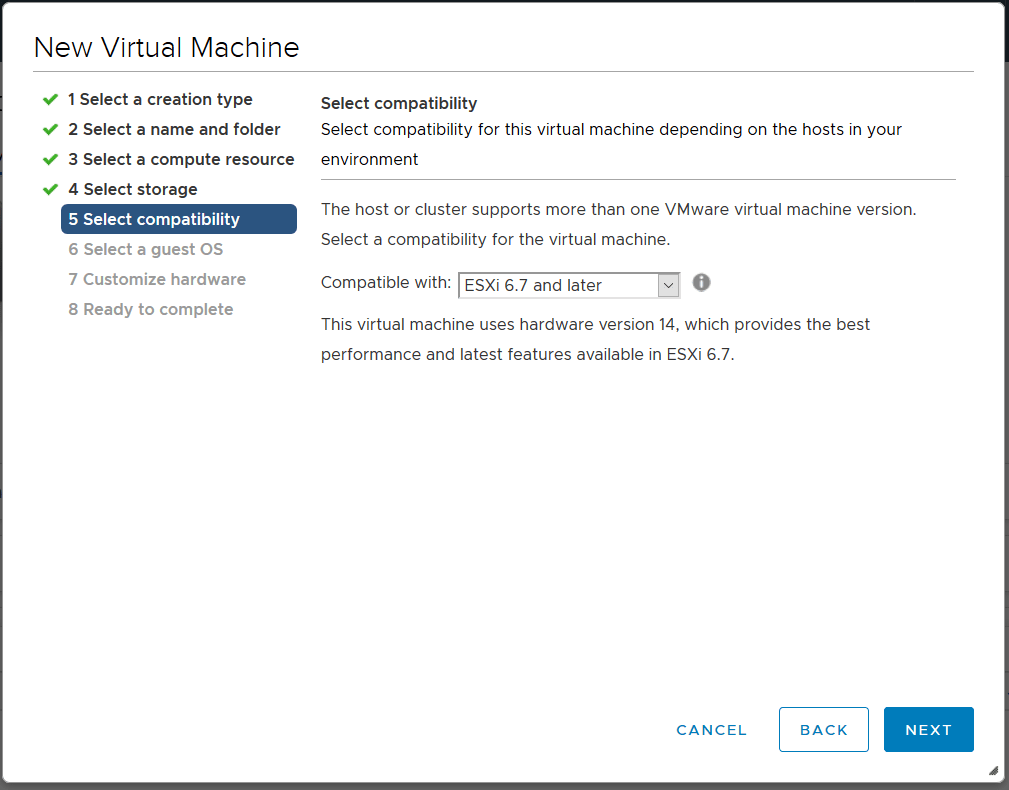 domalab.com deploy Ubuntu Server VMware select compatibility