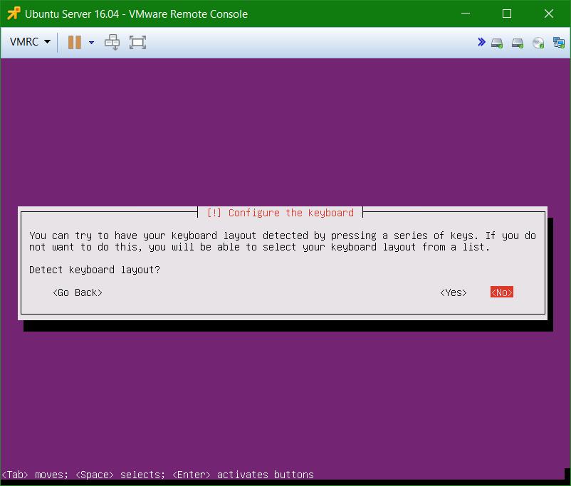 domalab.com Install Ubuntu Server VMware configure keyboard