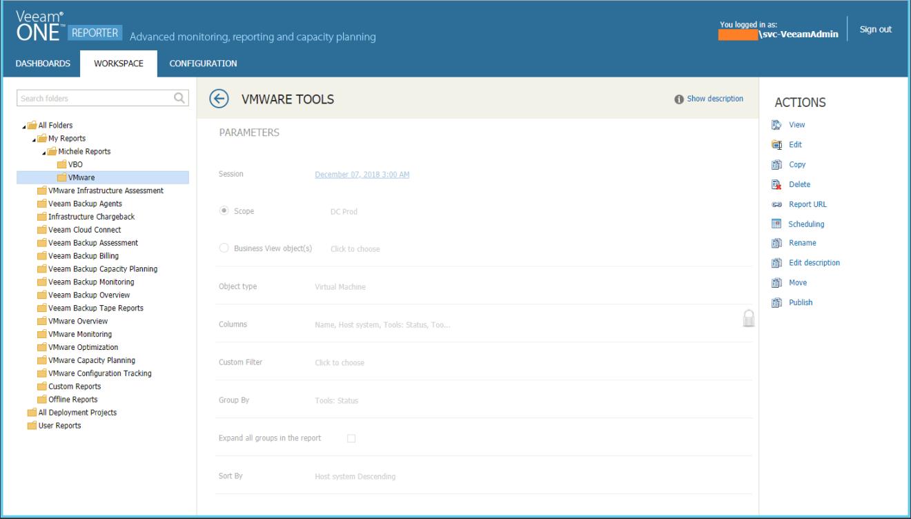 domalab.com VMware Tools Report veeam one edit