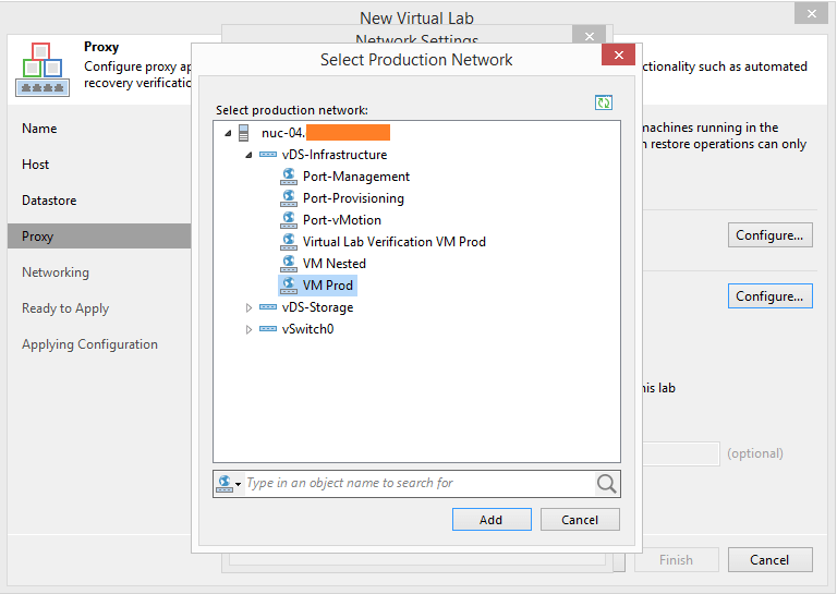 domalab.com Veeam Datalabs virtual lab proxy port group