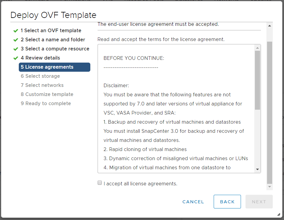 domalab.com Deploy NetApp VSC license agreement