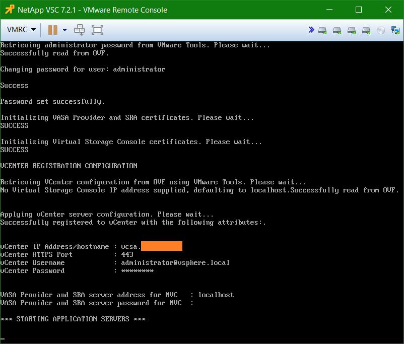 domalab.com Install NetApp VSC configuration complete