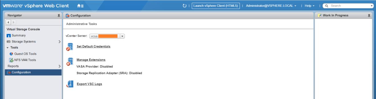 domalab.com Install NetApp VSC configuration