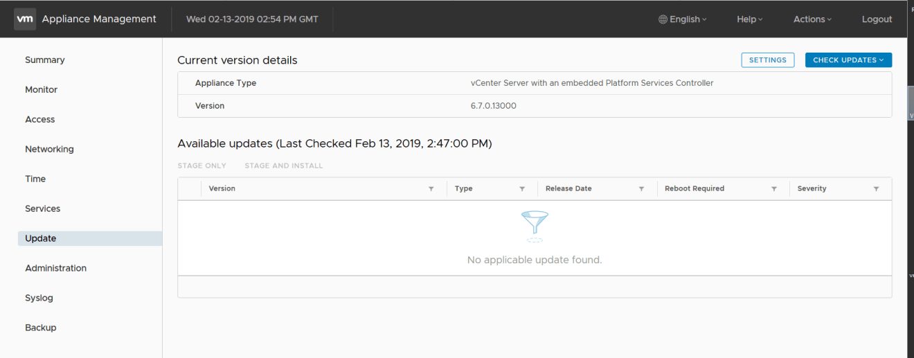 domalab.com VMware VCSA update not working