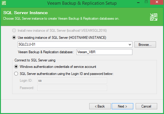 domalab.com Veeam Update 4 SQL server instance