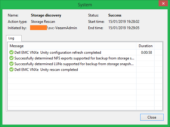 Veeam Dell EMC integration setup with UnityVSA » domalab