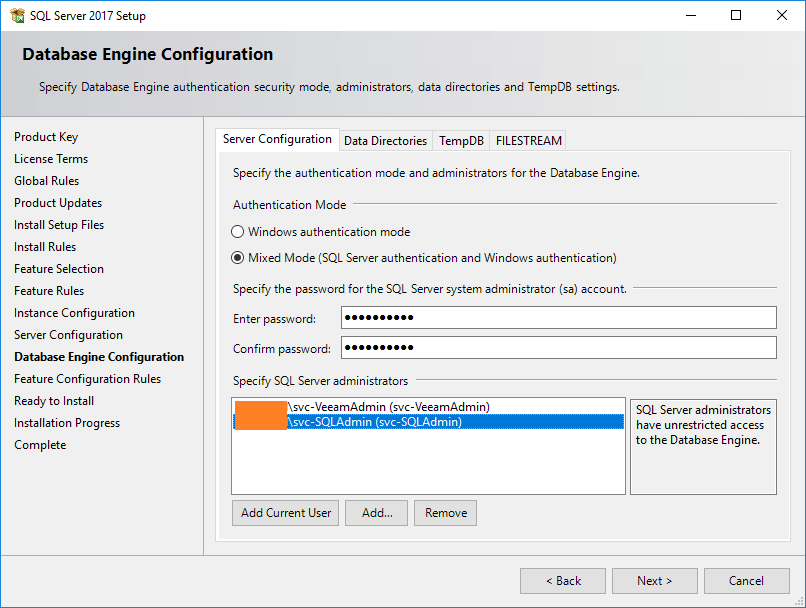 domalab.com install SQL 2017