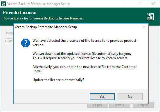 domalab.com Veeam Enterprise Manager upgrade