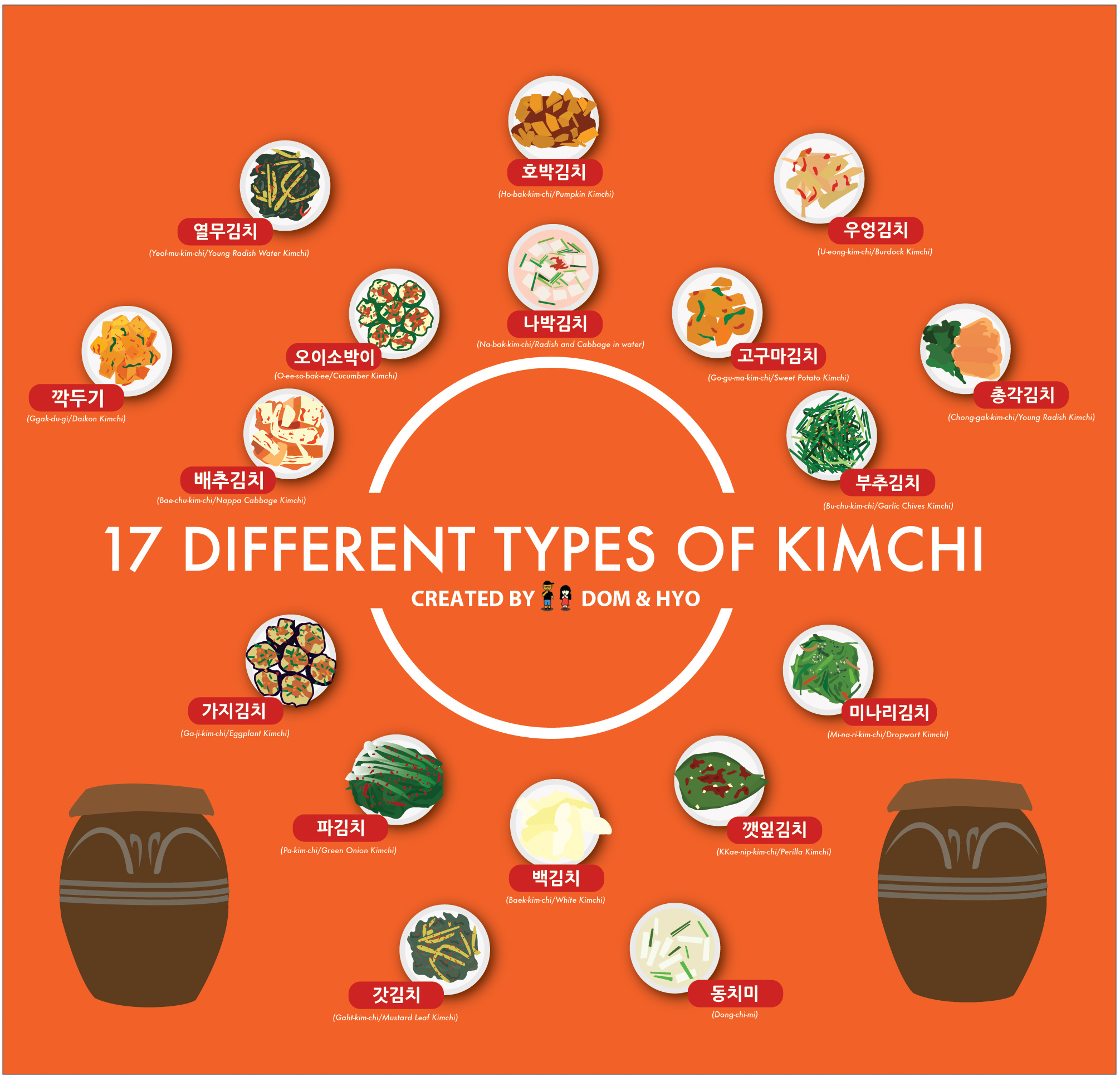 17 Different Types of Kimchi Infographic  Learn Basic