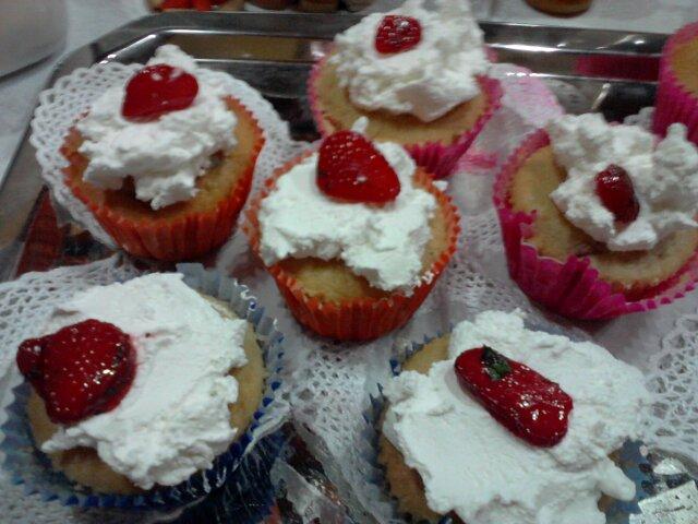 Cupcakes de Morango e Hortelã