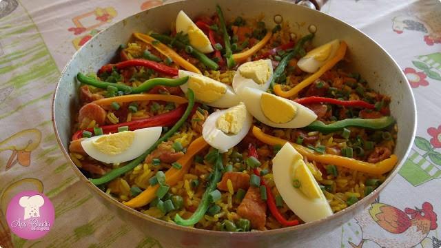 receita de paella caipira
