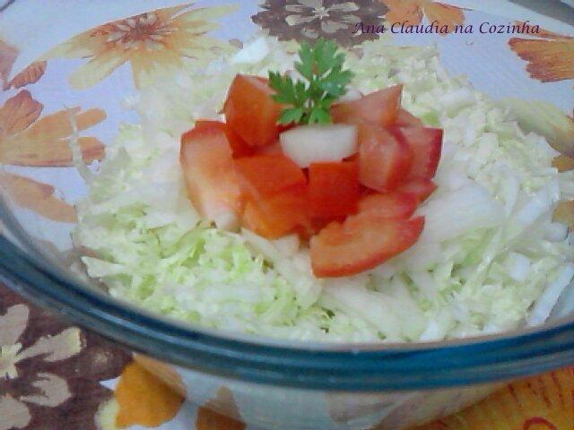 salada de acelga com caqui