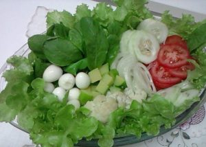 Salada colorida simples