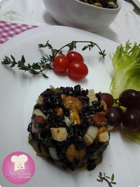 salada de arroz negro