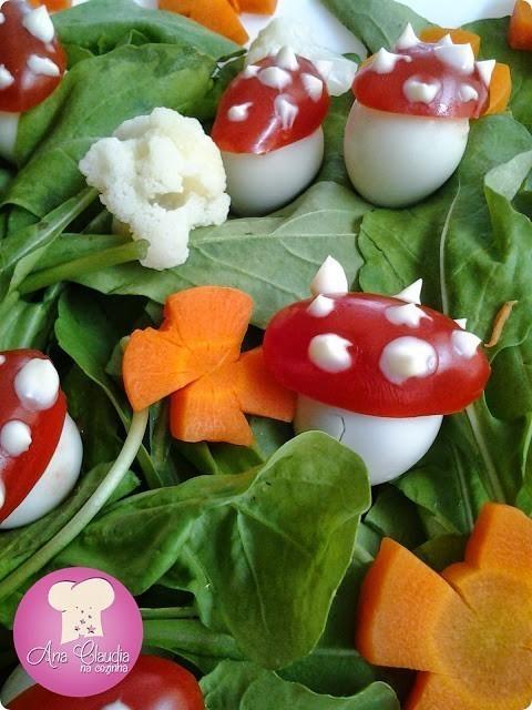 salada colorida divertida salada Jardim)