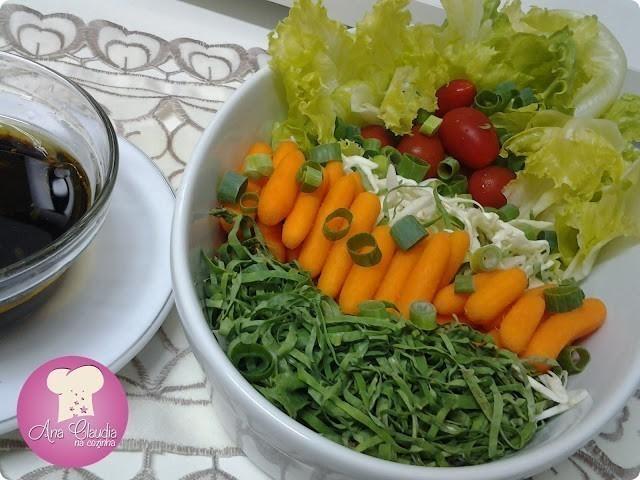 molho oriental para salada