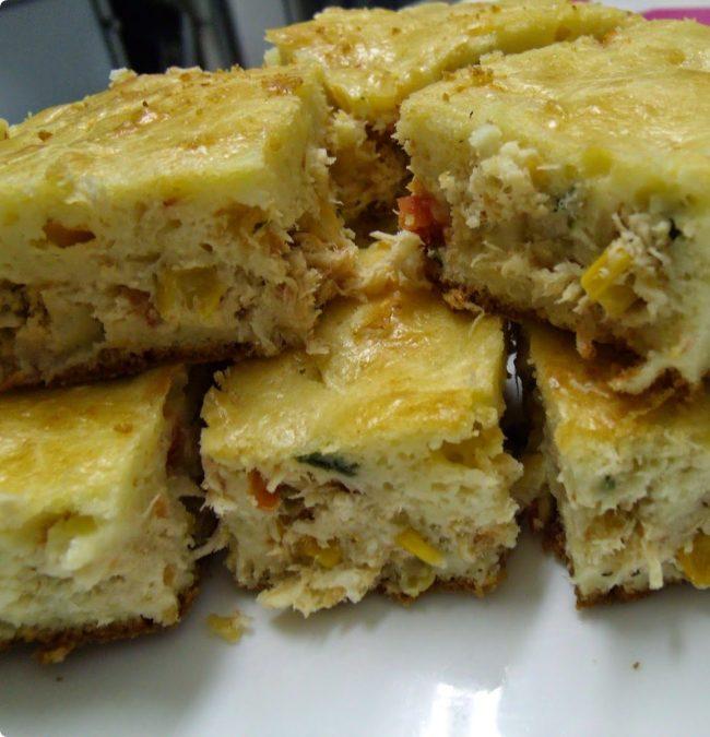 torta de liquidificador com cream cheese