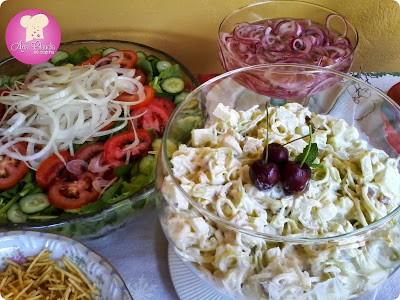 Receitas de saladas e massas