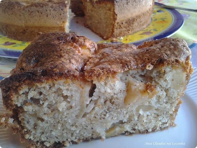 bolo de maçã com casca dom manjericão