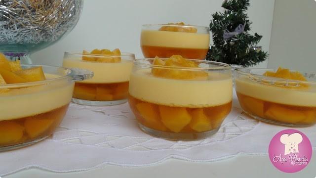 gelatina de pessego, sobremesa de pêssego