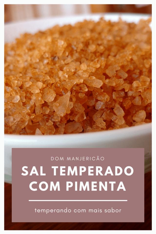sal temperado com pimenta