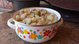 farofa de lombo com abacaxi