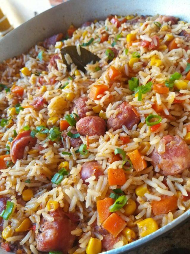 arroz de linguiça