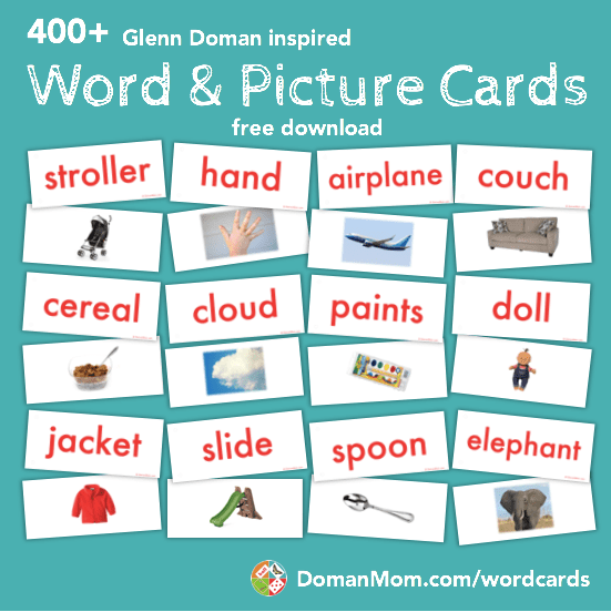 image about Create Printable Flashcards named Educate Your Child toward Read through Phrase Consider Playing cards (Doman-Motivated