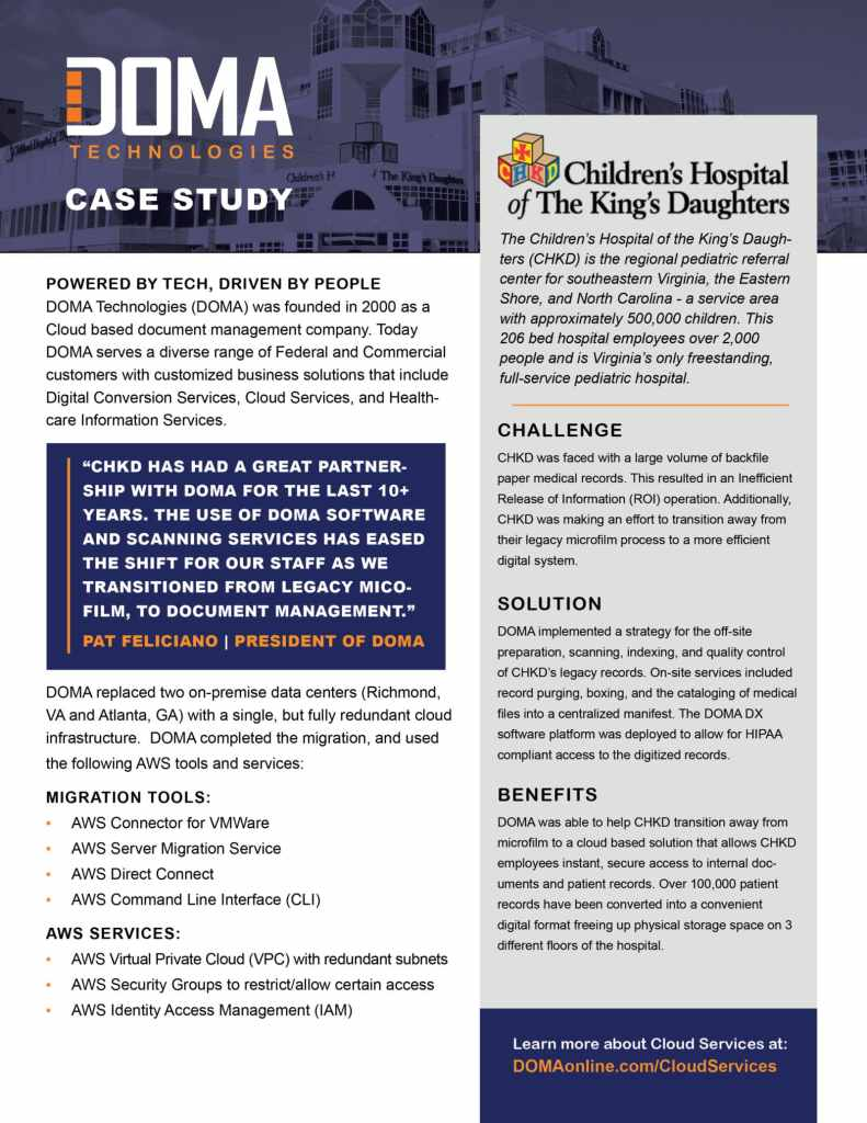 CHKD Case Study