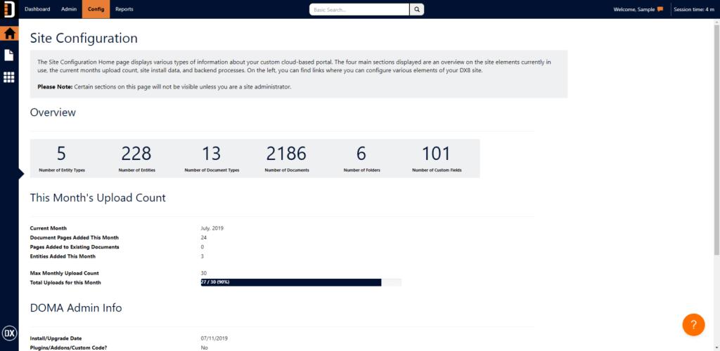 DX 8 Config Home Screenshot