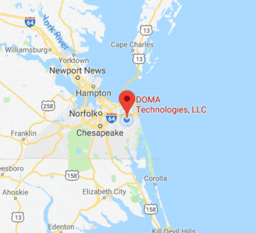 DOMA Technologies Virginia Beach Map